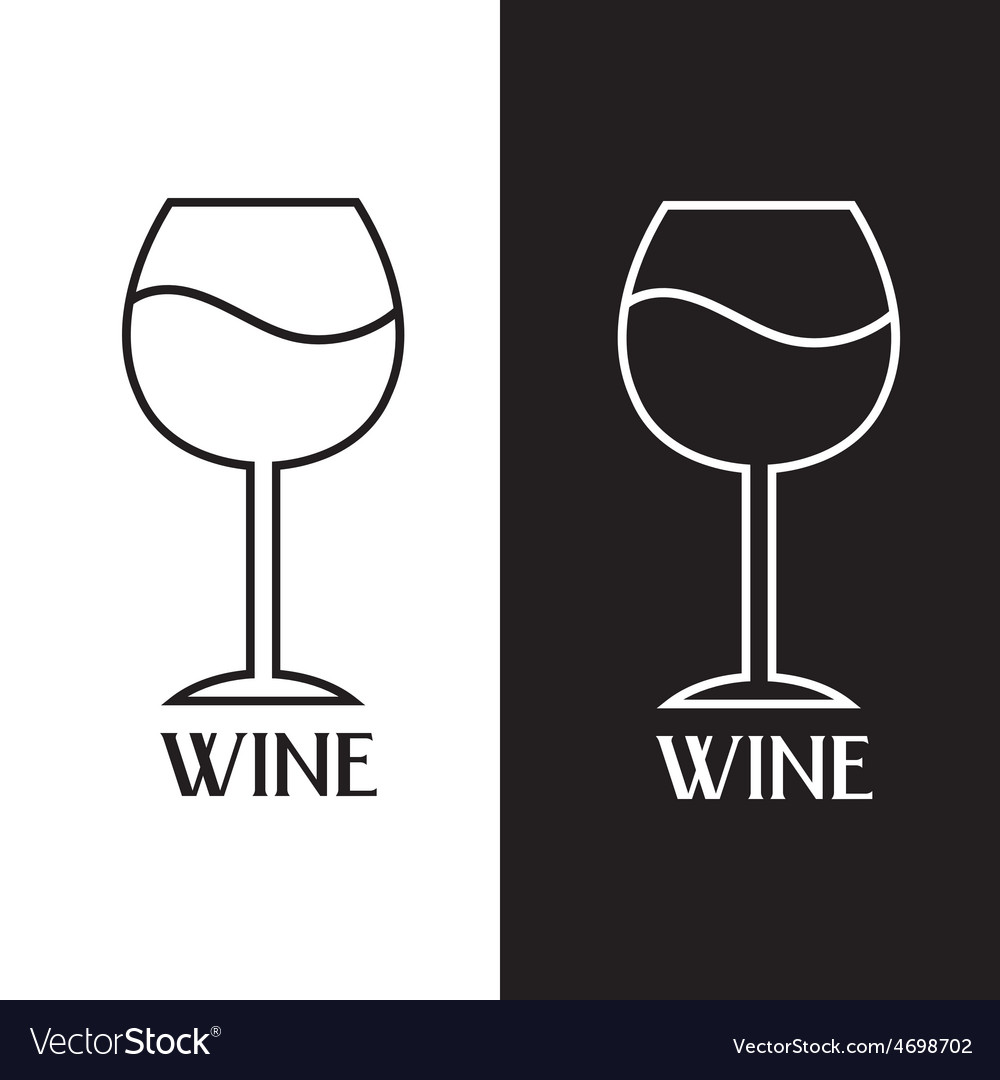 Wine Glass Design Template Royalty Free Vector Image