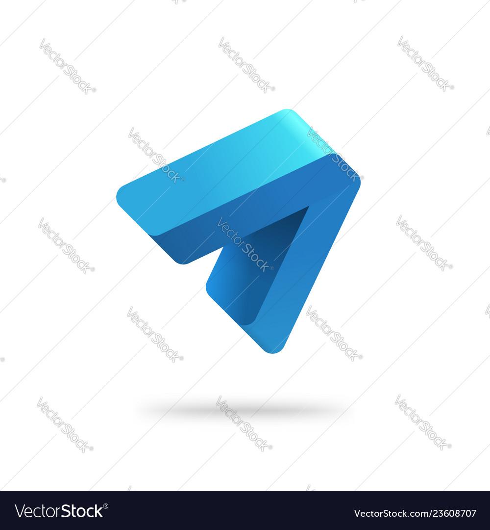 Abstract arrow logo template blue gradient