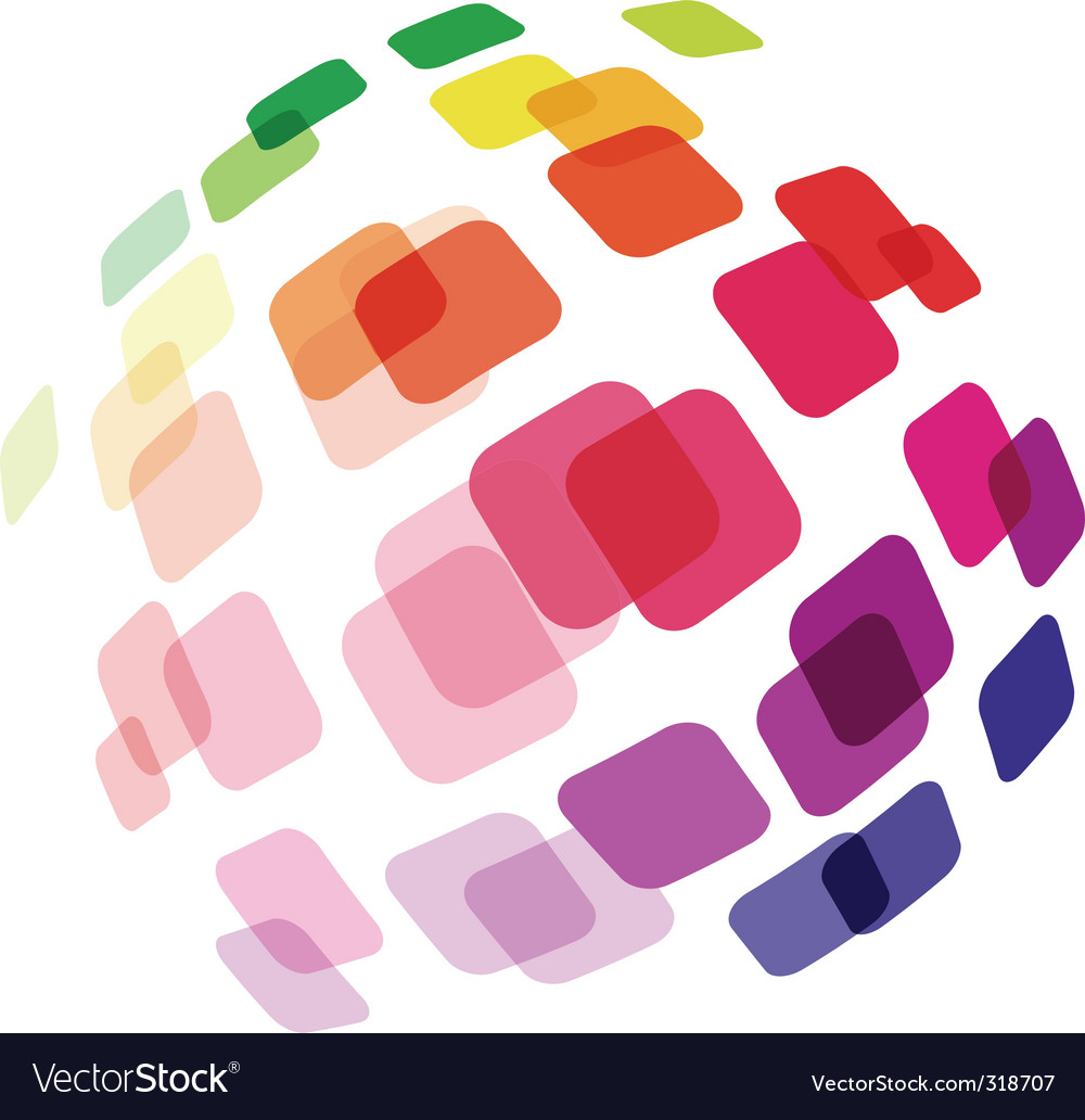 Abstract ball made of squares vector image