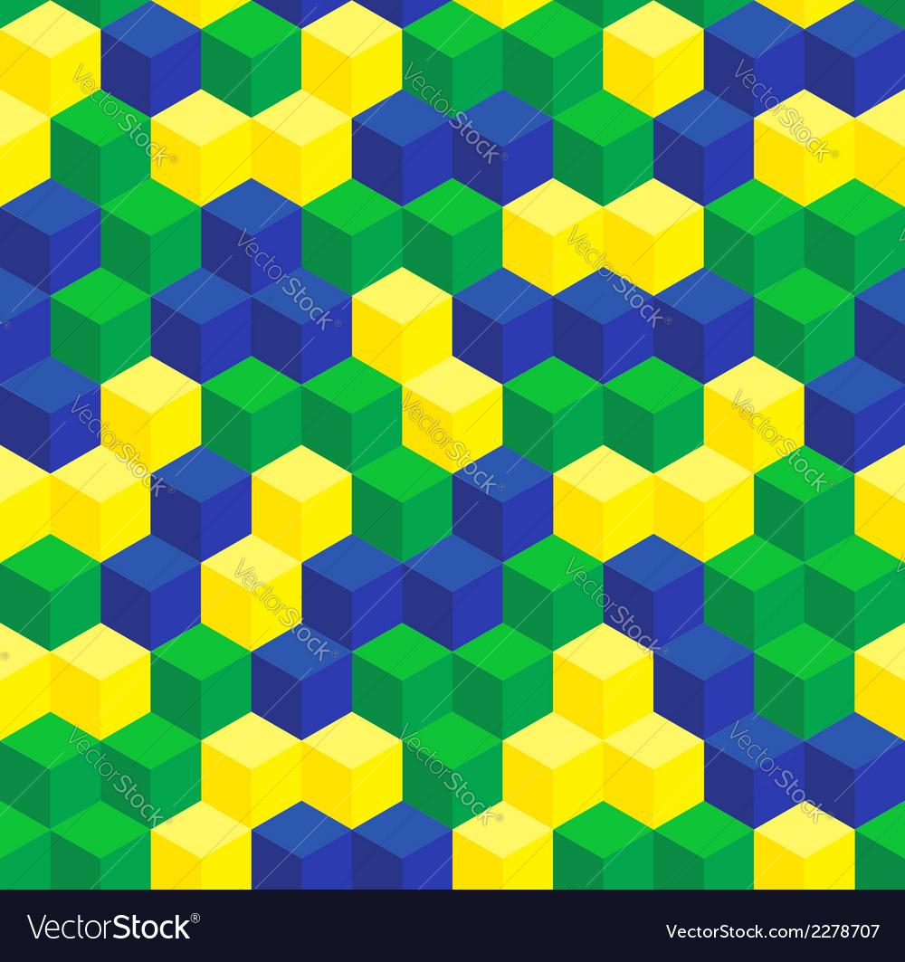 Brazilian colors seamless pattern