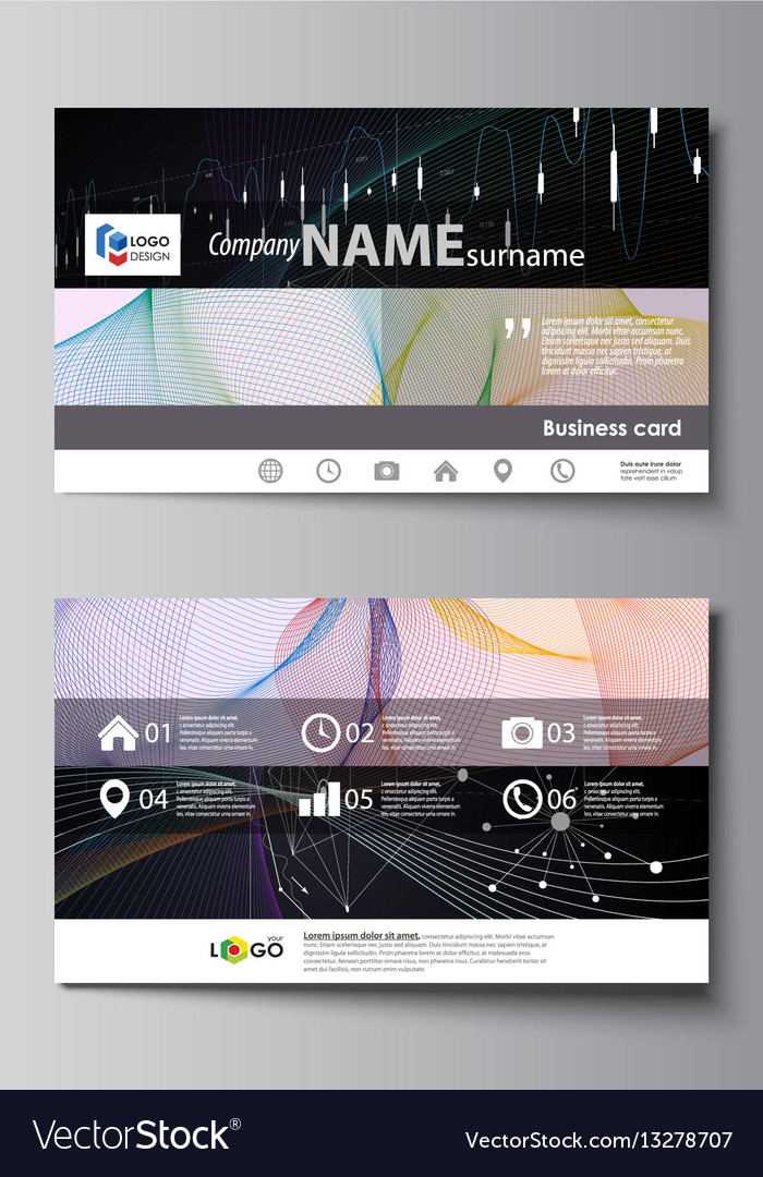 Business card templates easy editable royalty free vector business card templates easy editable vector image wajeb Gallery