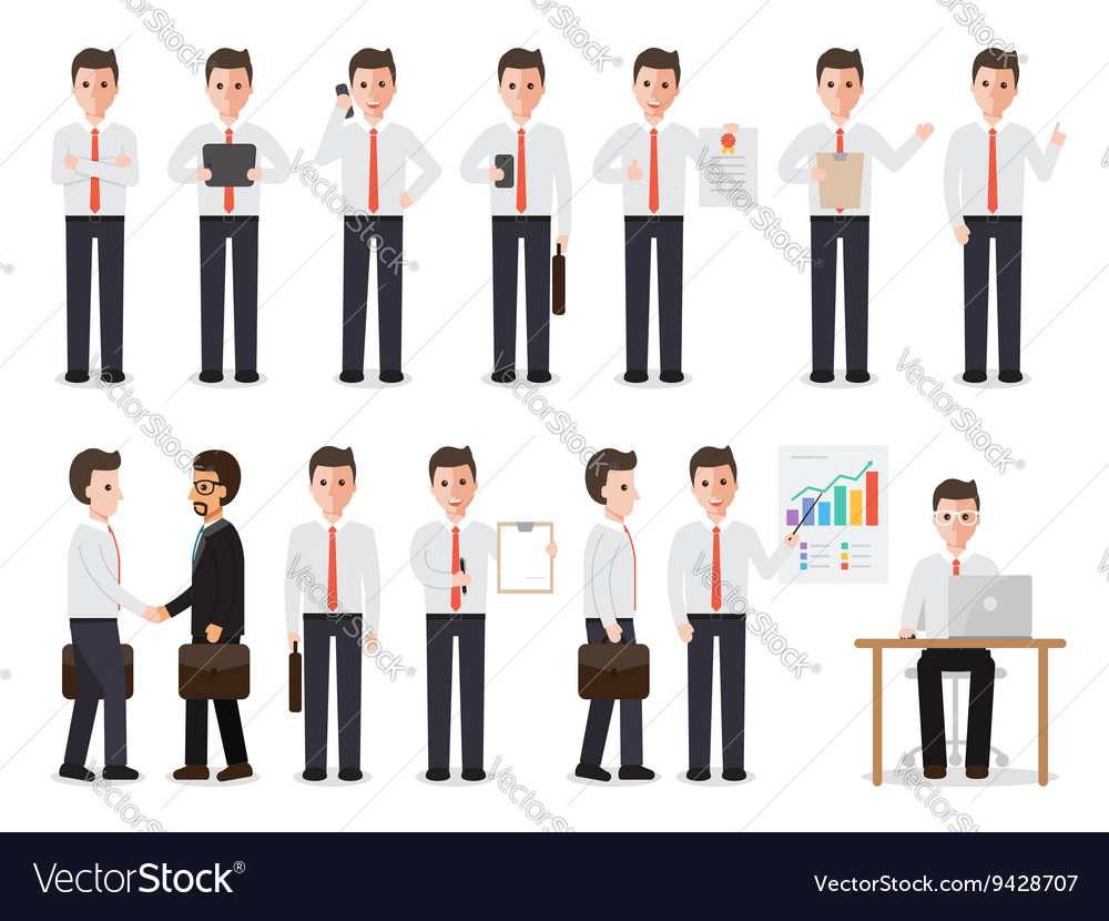 Businessman people characters