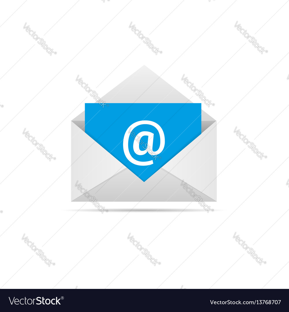 Envelope with email