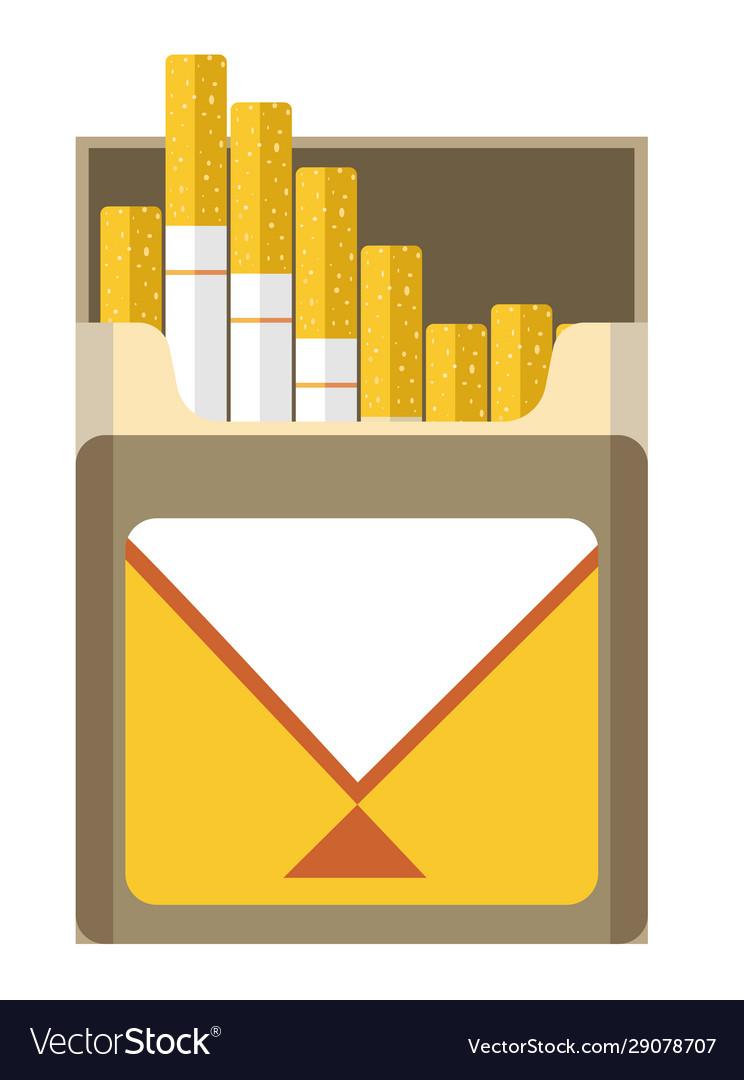 Filtered cigarette full package box open for