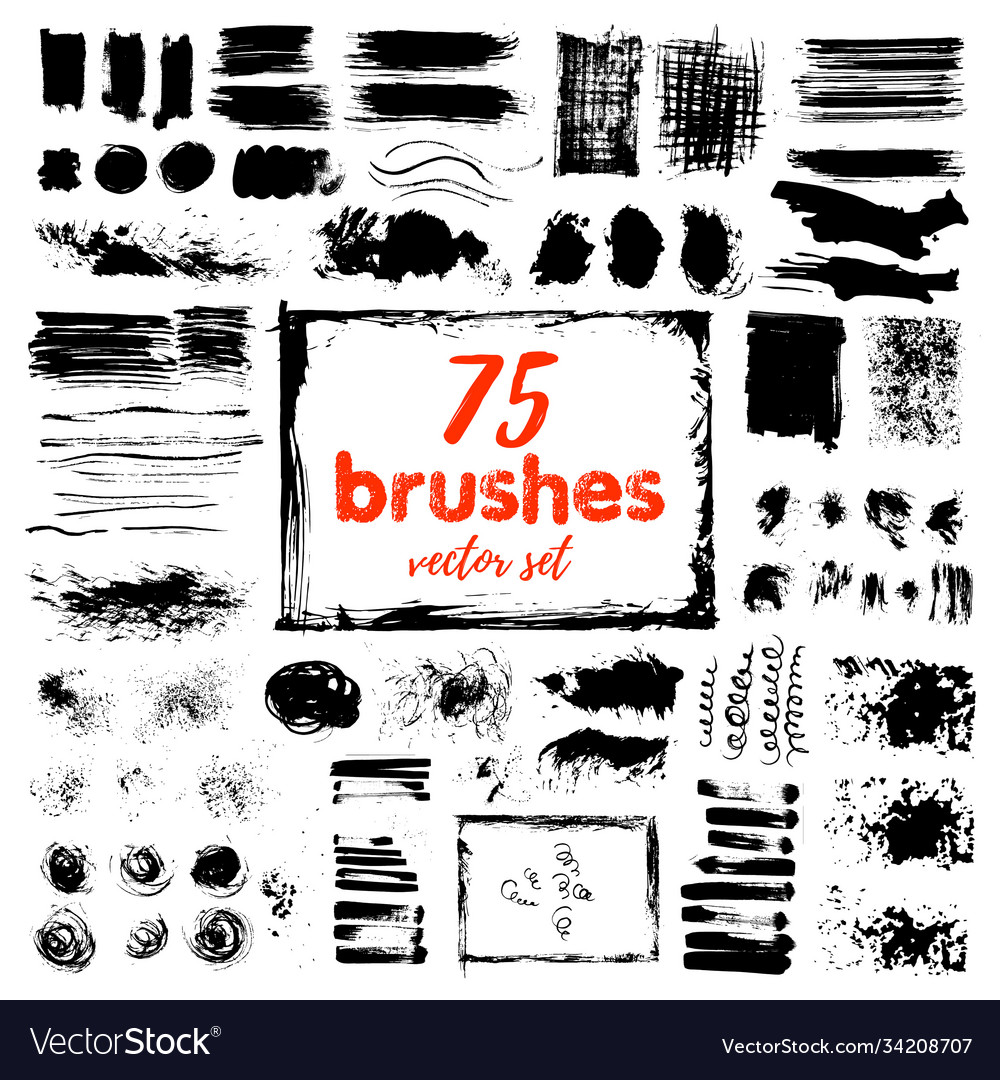 Hand draw sketch paintbrush set artistic sketch