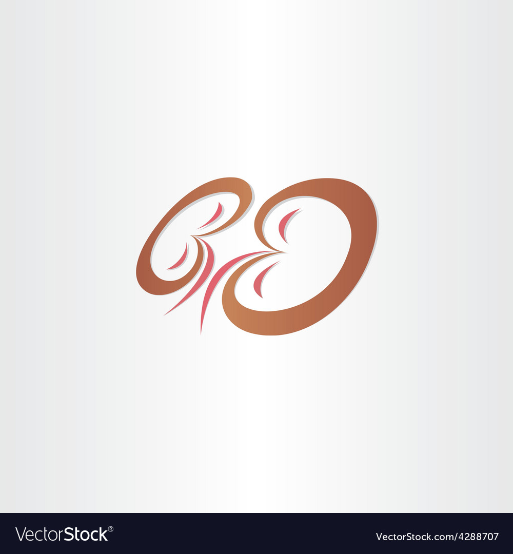 Kidneys stylized icon design vector image