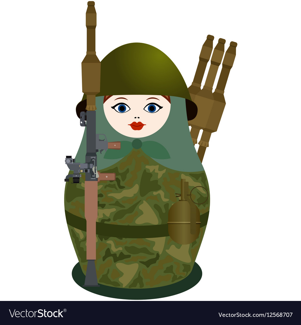Matryoshka with a antitank grenade launcher