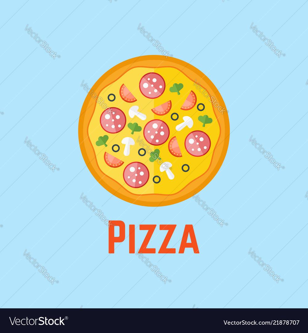 Pizza flat design