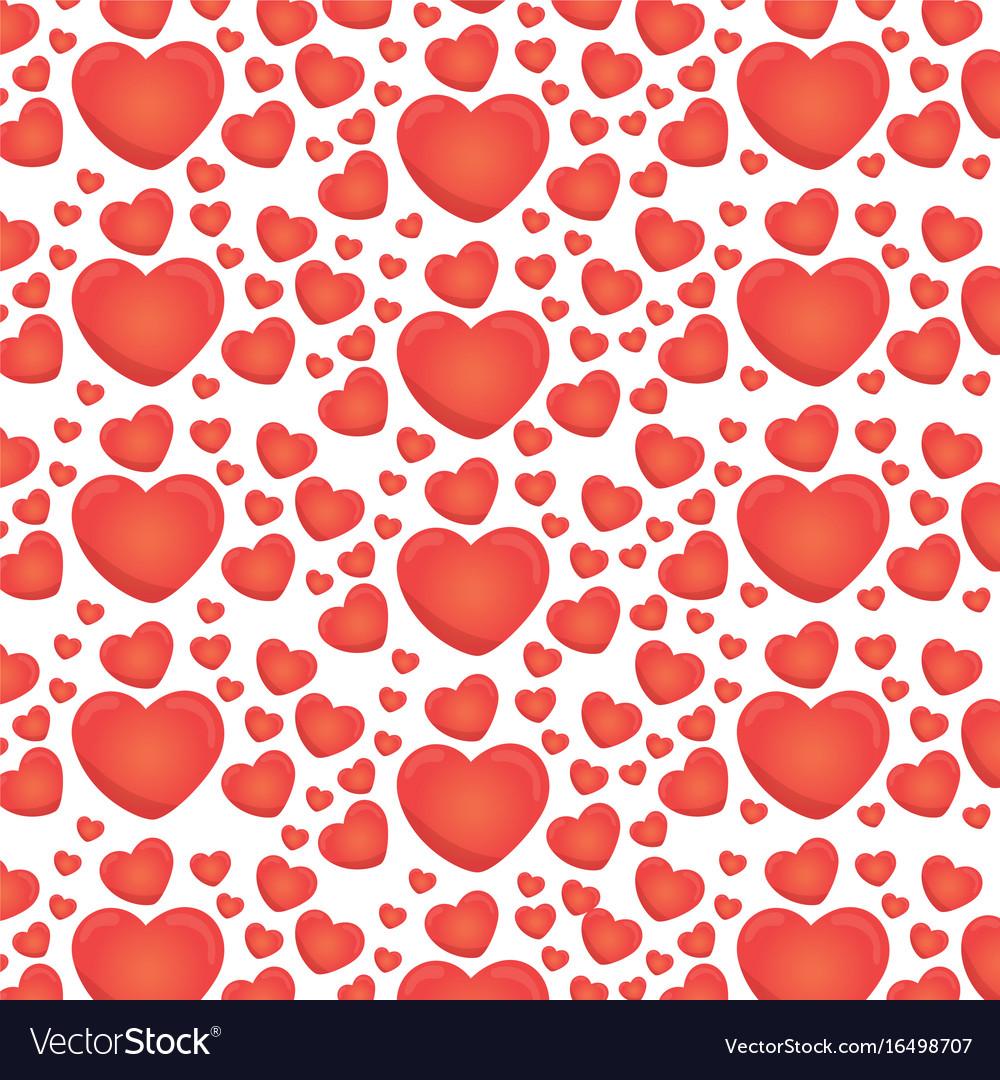 Red love heart ballon backgound