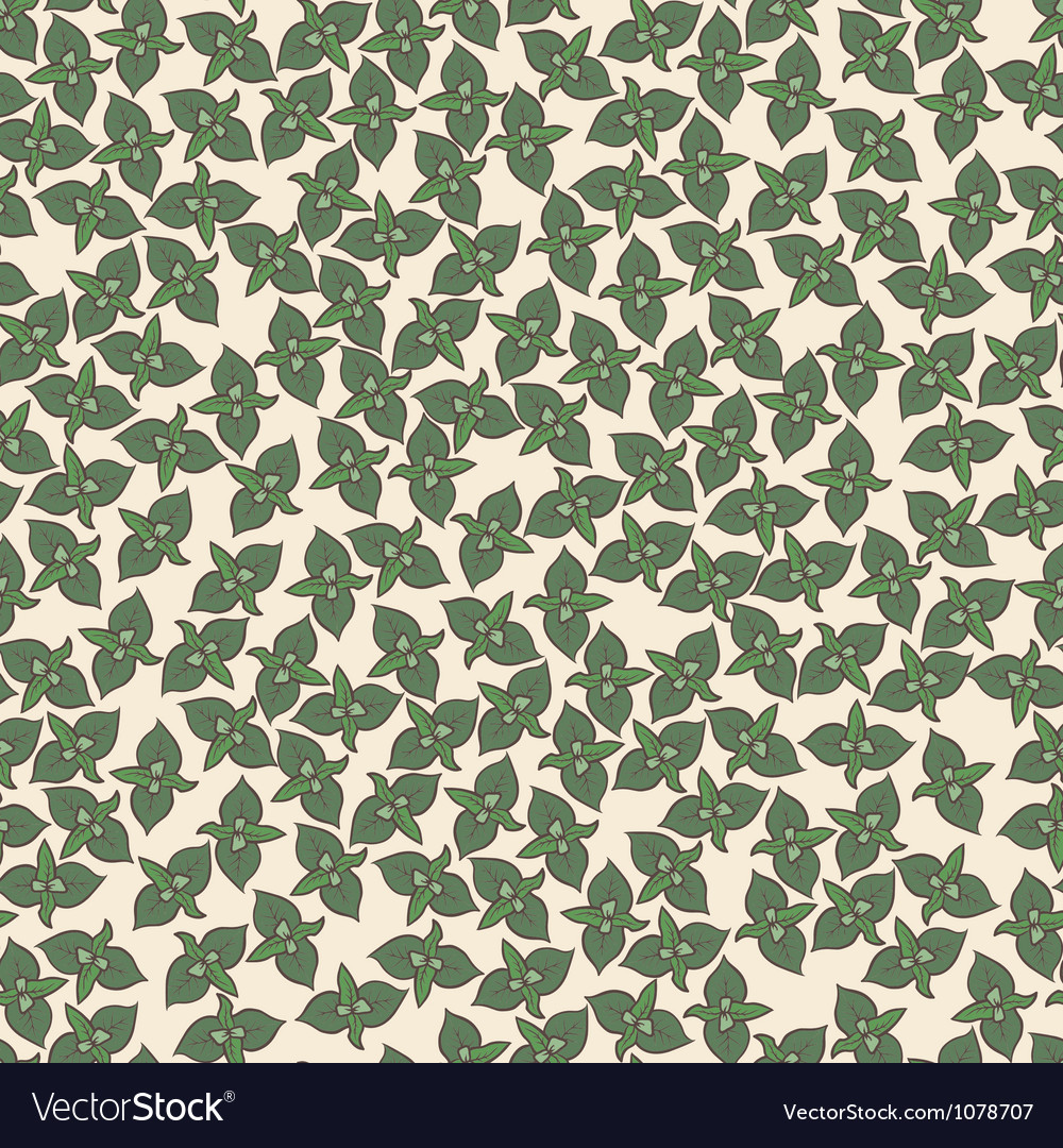 Seamless background pattern with mint leaves