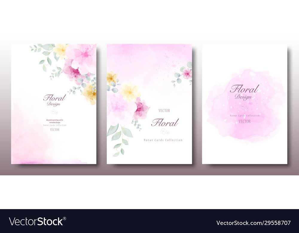 Watercolor beautiful floral invitation template