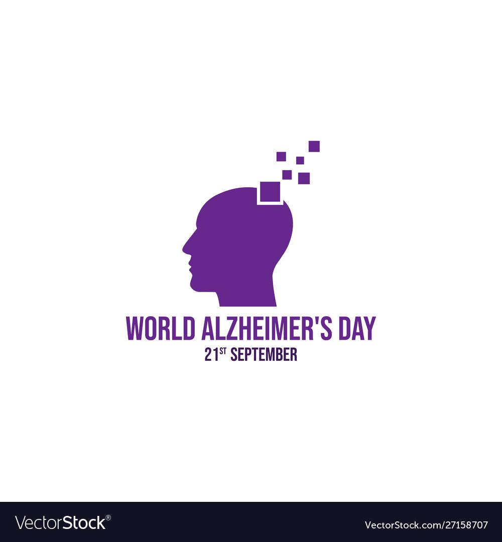 World alzheimers day icon