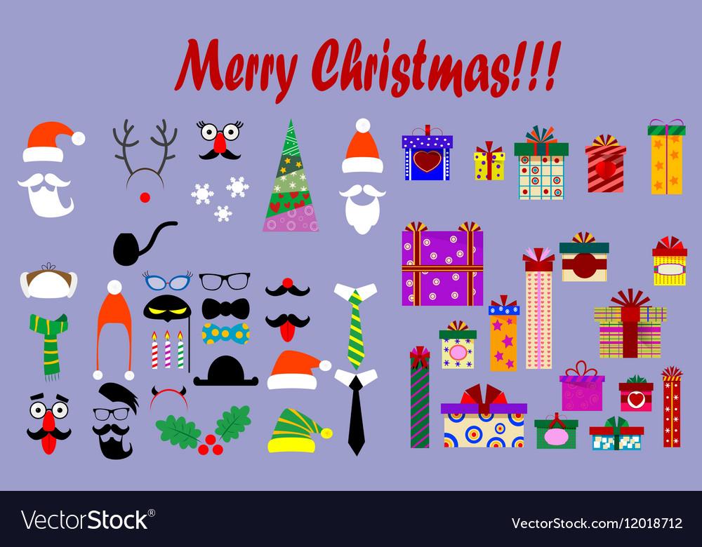 Christmas hats beards mustache horns