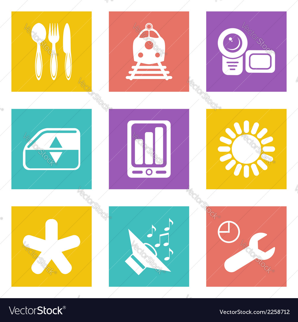 Color icons for Web Design set 50