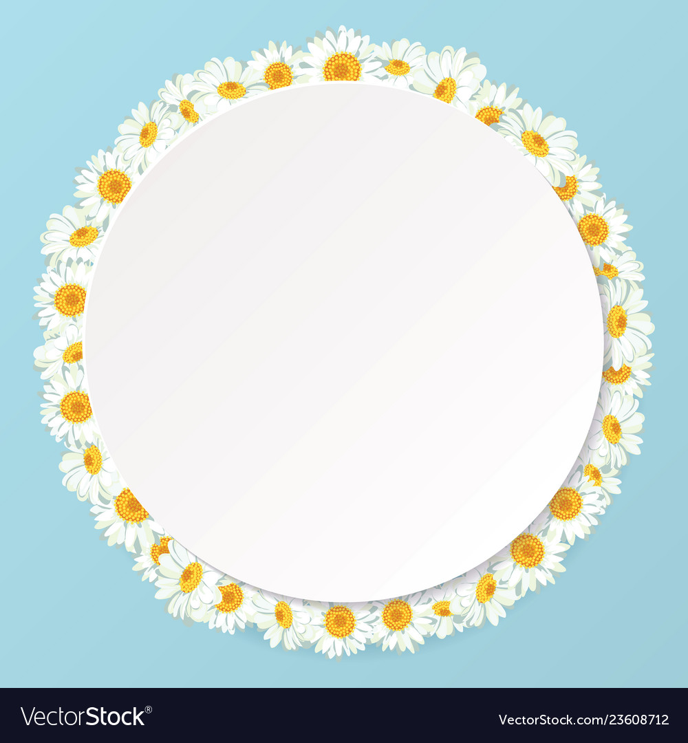 Daisy chain round frame with shadow for your text