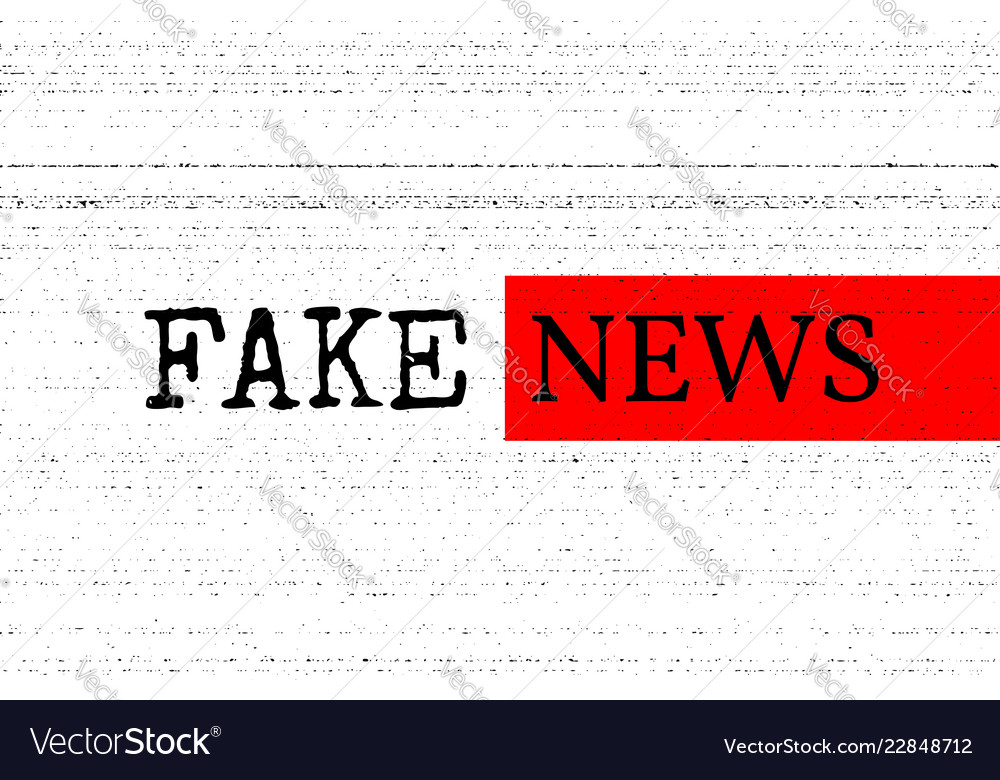 Fake news concept red black and white