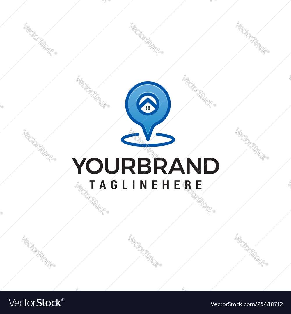 Geolocation point logo design concept template