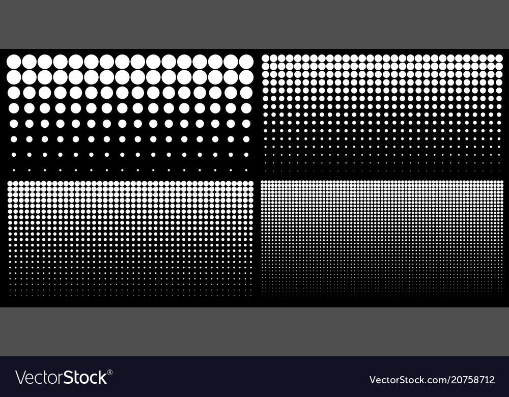 Halftone set of vertical gradient dots backgrounds vector image