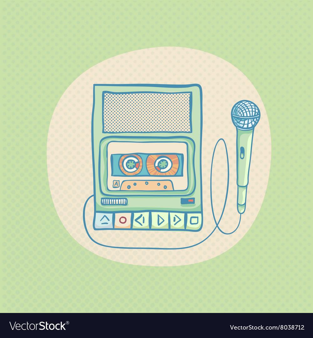 Handheld tape recorder