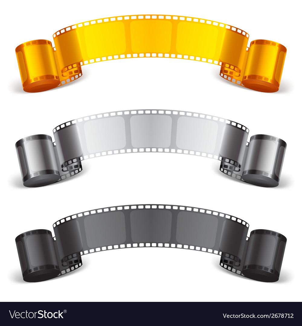 Movie tape vector image