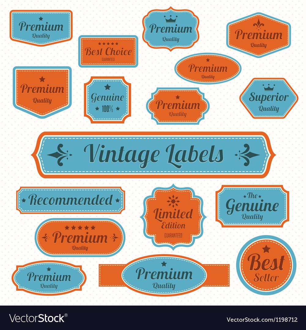 Set retro vintage badges and labels eps10