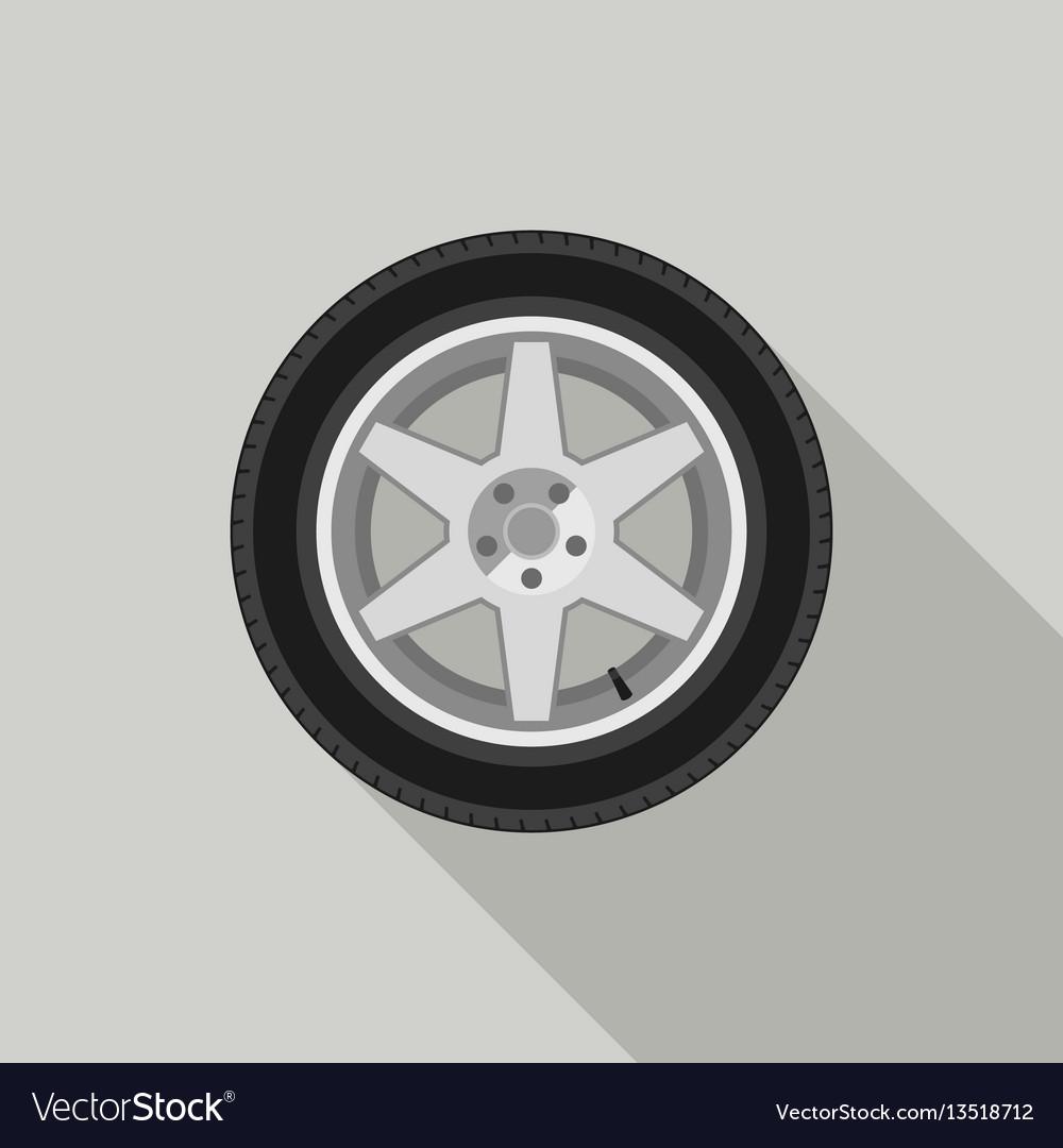 Wheel flat icon