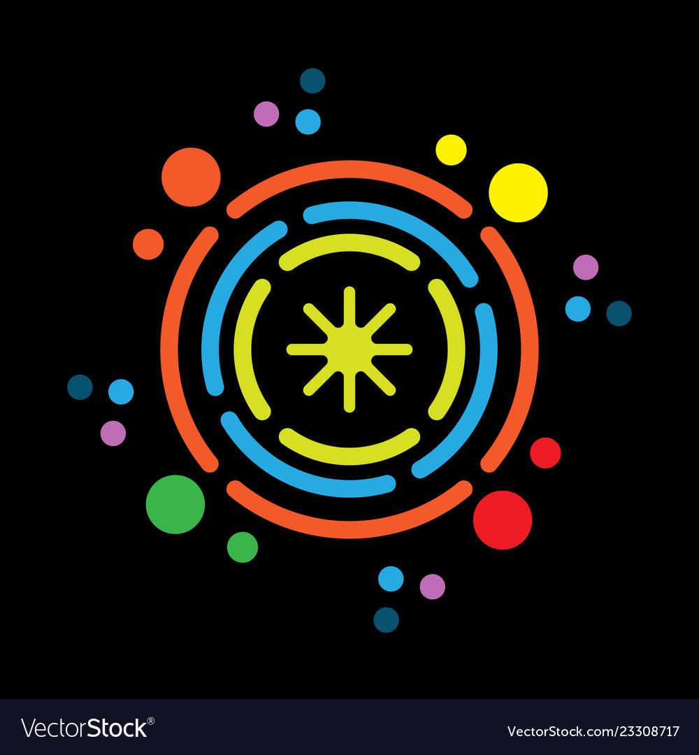Abstract circle technology logo