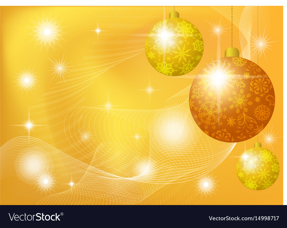 Christmas background with stars and balls