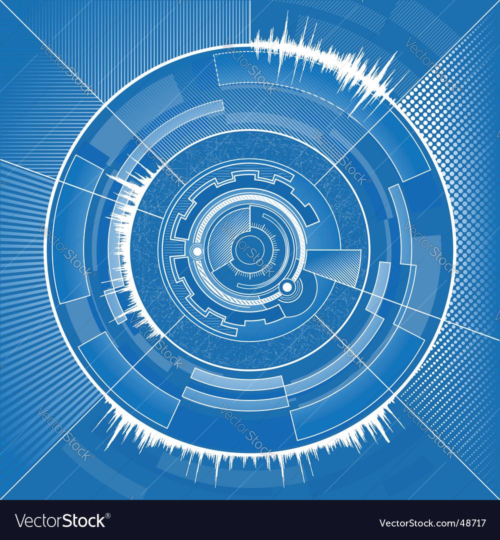 High tech circle vector image