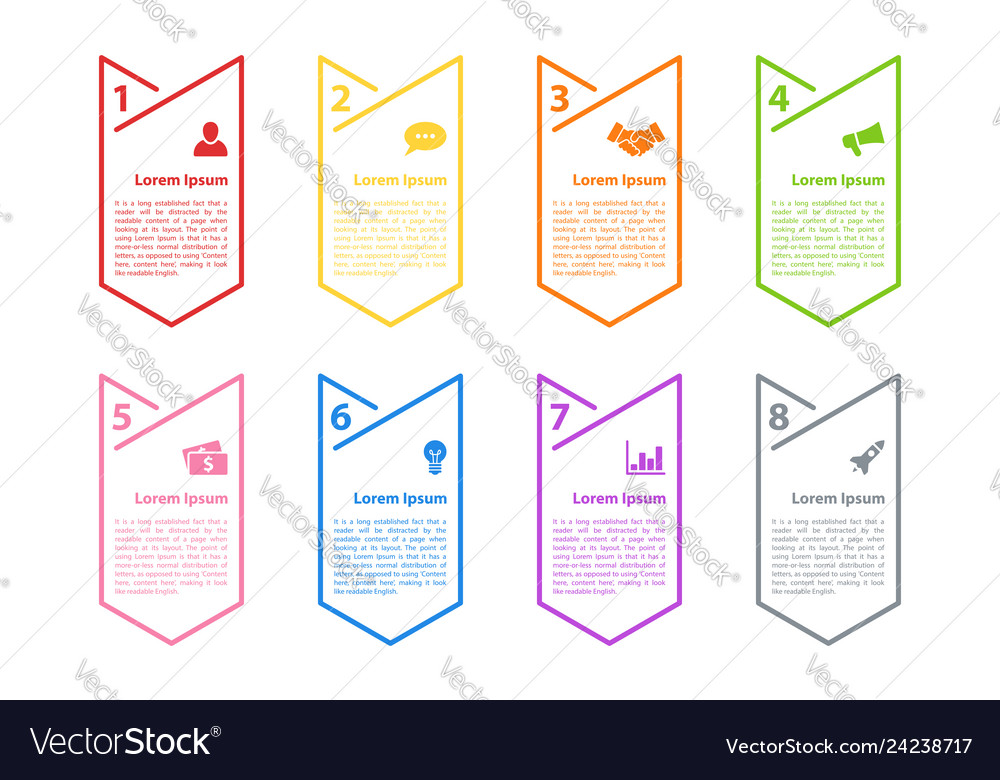 Infographic design business concept with 8 steps