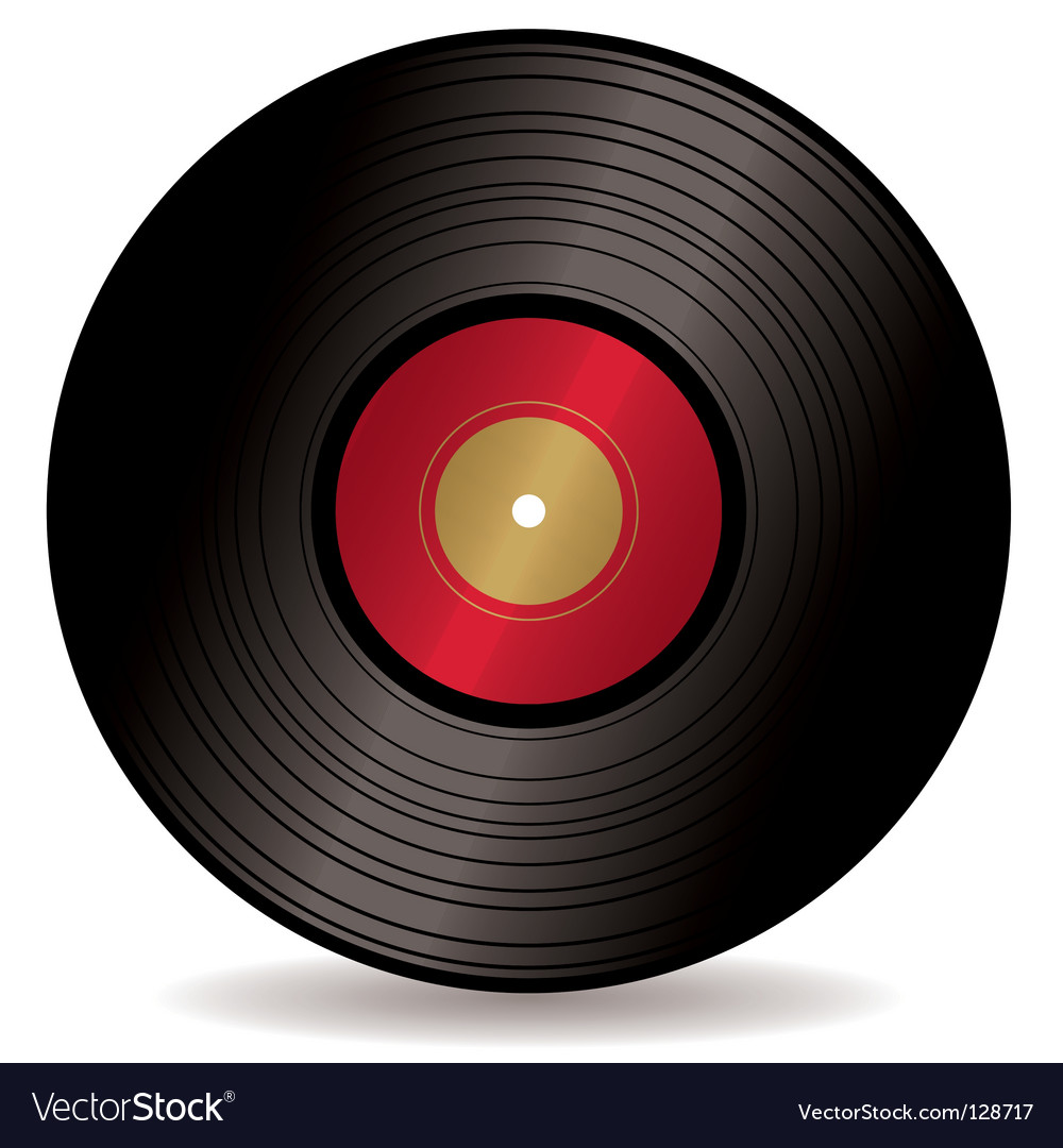 LP record album vector image