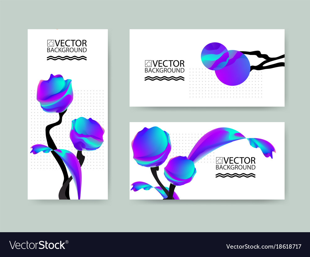 Marble trendy backgrounds placards with abstract vector image