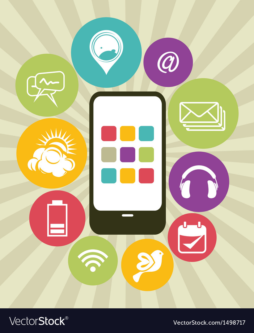 Phone Apps Icons vector image