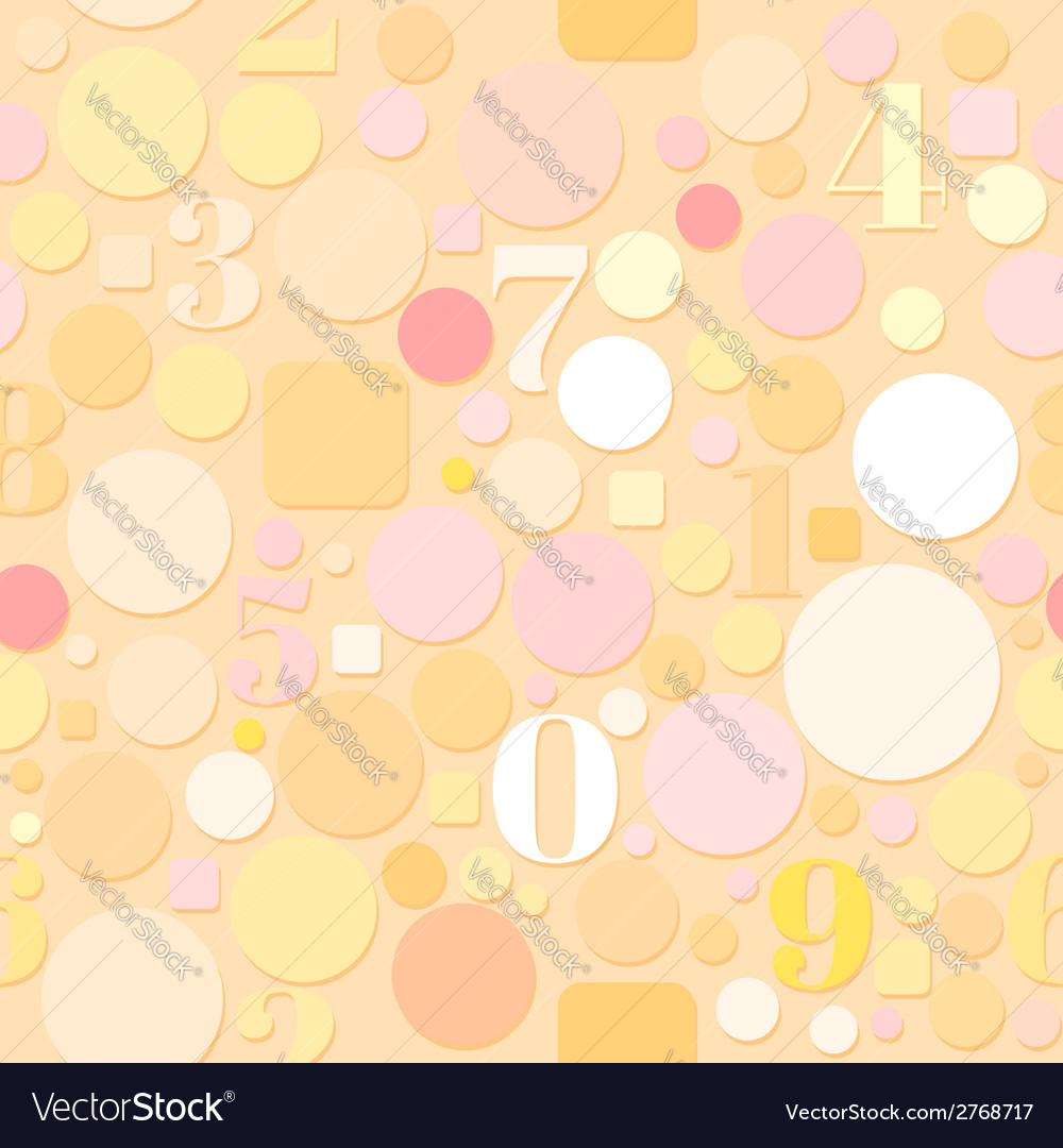 Seamless Pattern with Numbers and Circles