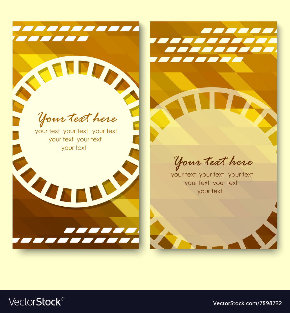 Abstract creative business cards set