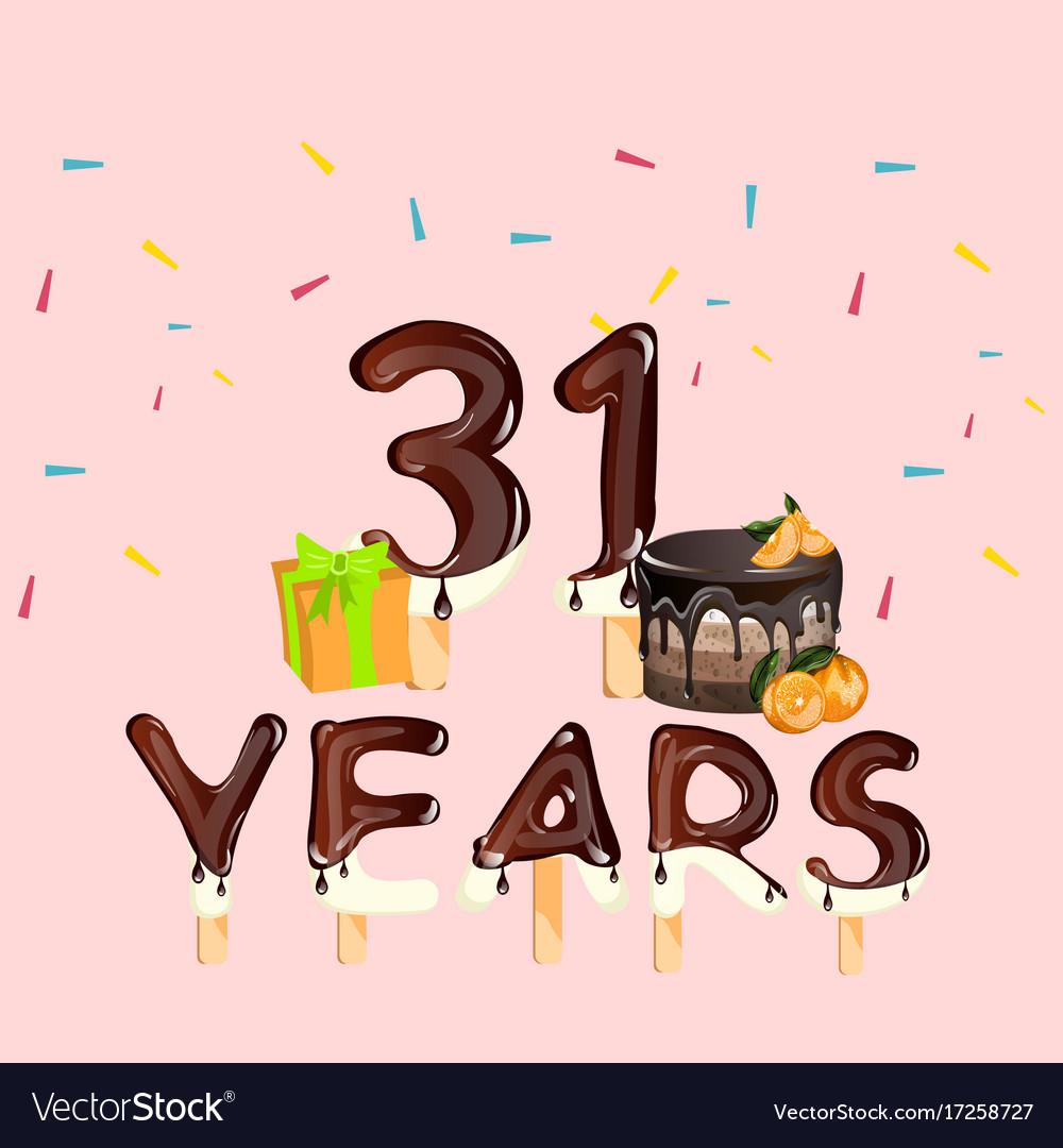 Картинка с днем рождения 31 год
