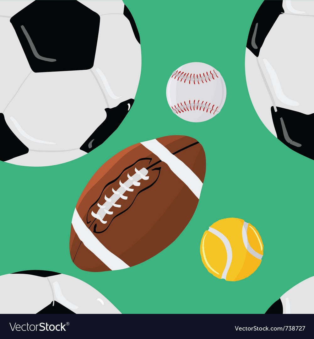 Abstract seamless background with sport objects vector image