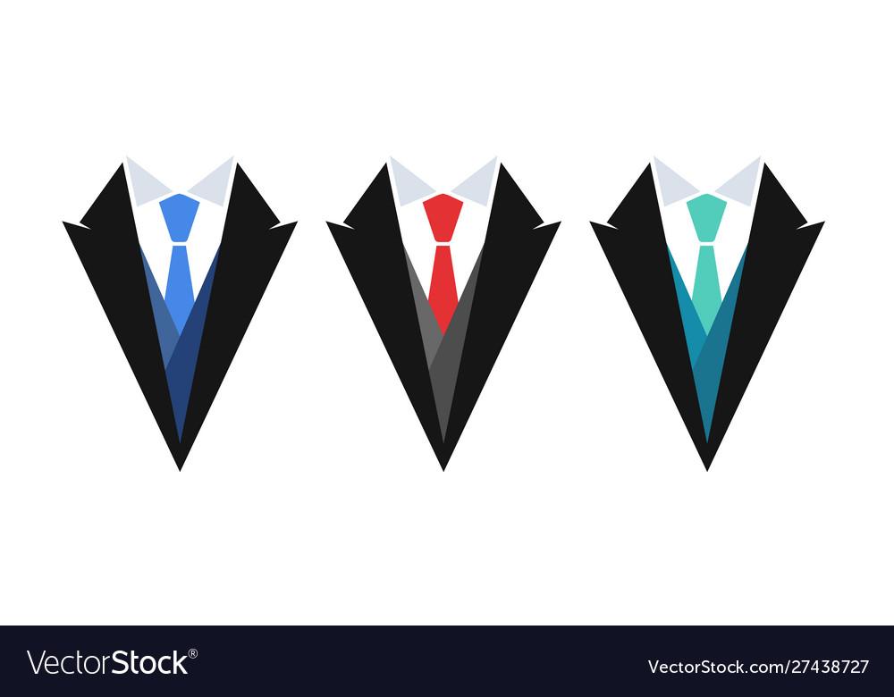 Business logo suit with tie set emblems