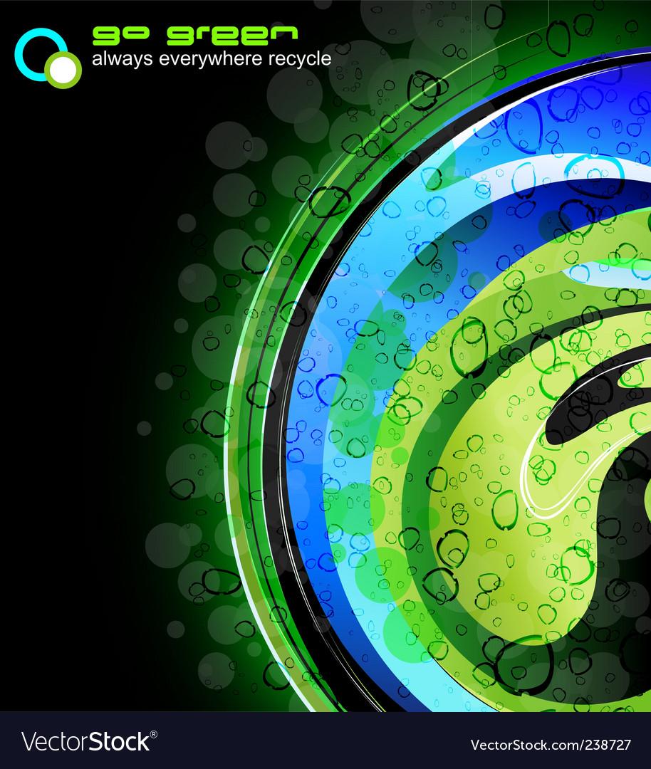 Glow fantasy green business card