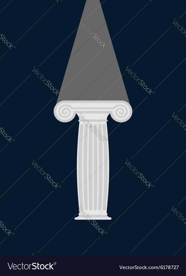 Pedestal Light in darkness Enlightenment vector image