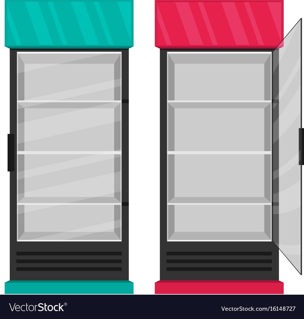 Supermarket refrigerator set flat