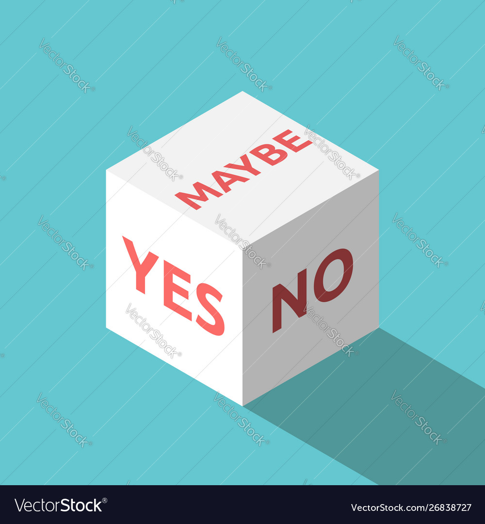 Yes no maybe cube