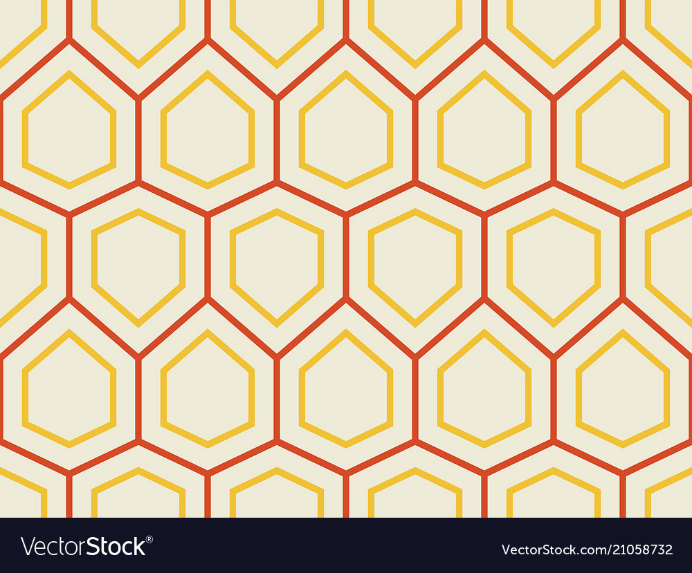 Abstract geometric pattern with hexagons