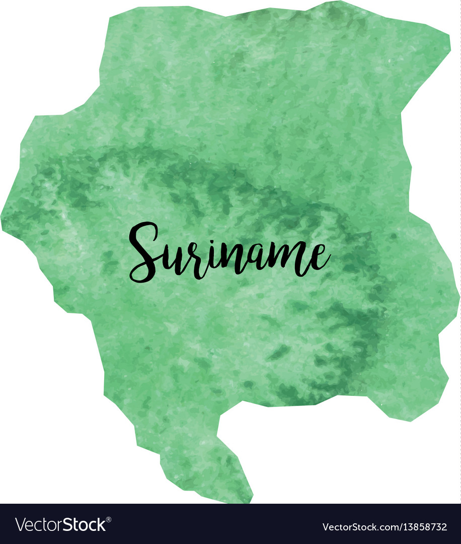 Abstract suriname map