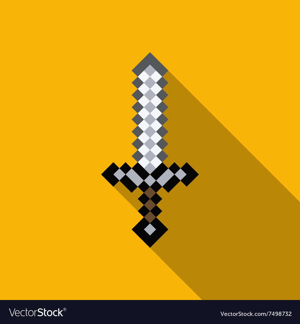 Cartoon sword pixels sword computer game weapon