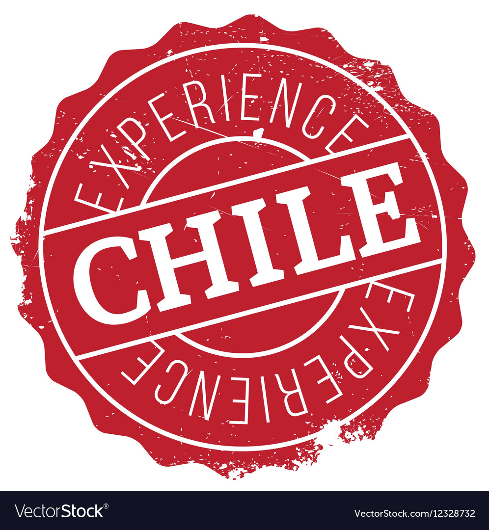 Chile Stamp Rubber Grunge Vector Image