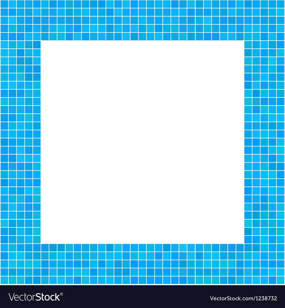 Mosaic Frame Blue