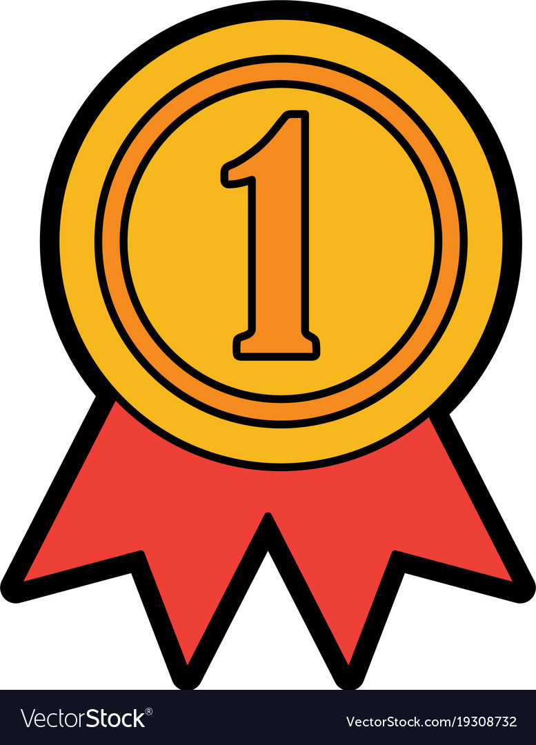 ribbon award first place icon image royalty free vector