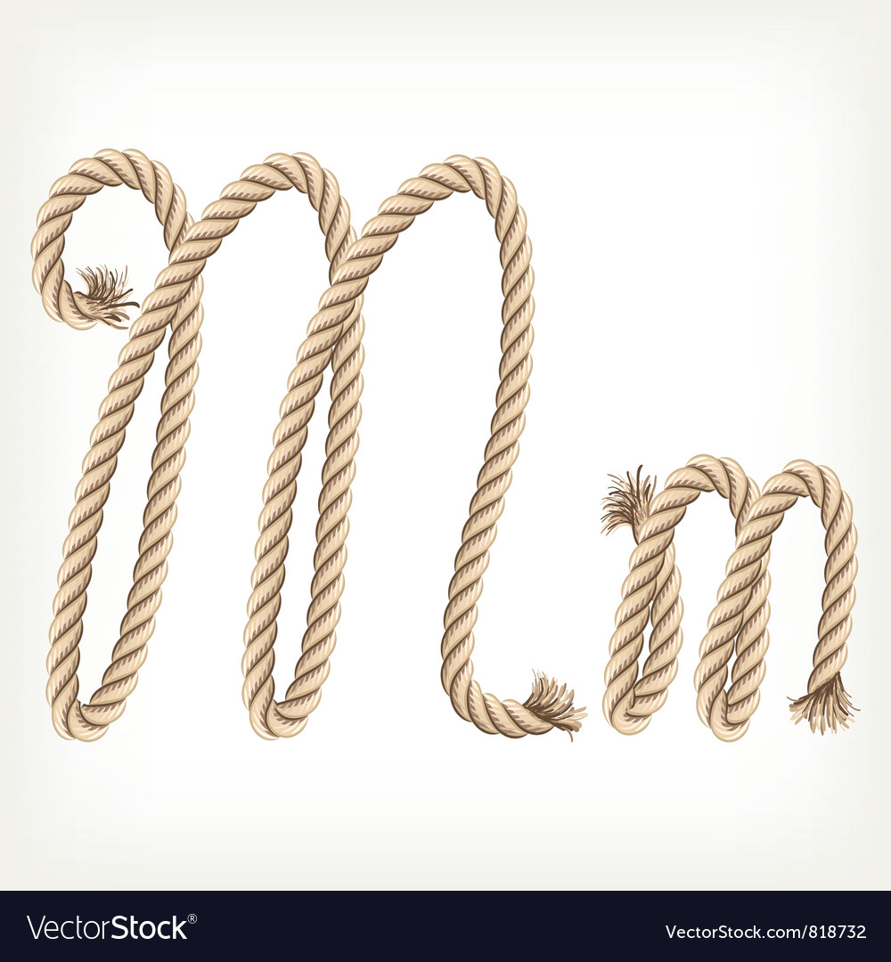 Rope alphabet letter m royalty free vector image rope alphabet letter m vector image altavistaventures Gallery