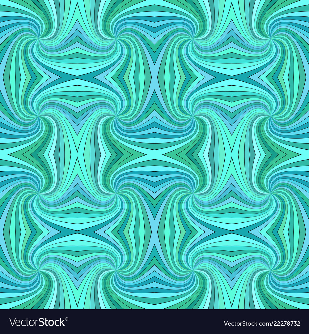 Turquoise seamless abstract psychedelic spiral